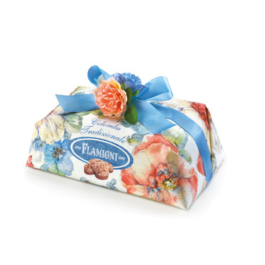 THE HANDWRAPPED TRADITIONAL COLOMBA WITH CANDIED ORANGE PEELS