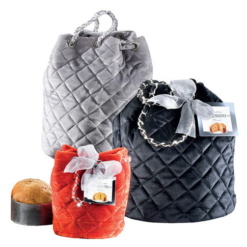 """Sugar iced Panettone The """"Glamour"""" bucket bags 100gr and 750gr"""
