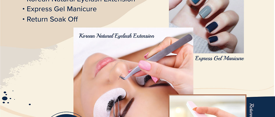 3 in 1 Combo: Eyelash Extension +Express Gel Manicure