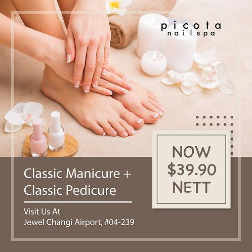 Classic Manicure + Classic Pedicure