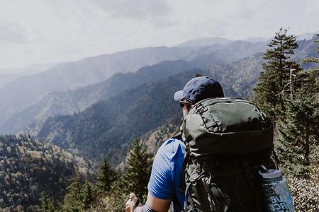 Man-looking-at-Views-of-Smoky-Mountains.