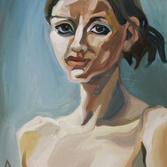 Self-portrait Against Green