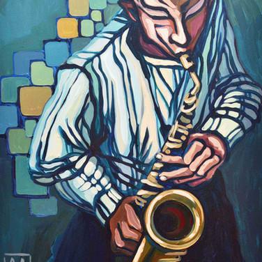 Jazz Saxophone with Stripes