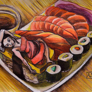 Woman vs Salmon