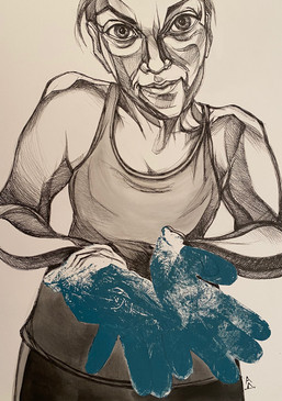 Self-portrait as Printmaker