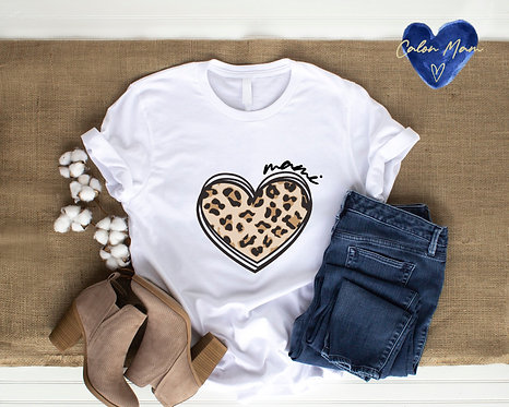 Top Calon Llewpard/Leopard print heart top