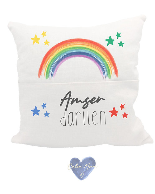 Clustog llyfr darllen/Book pocket cushion
