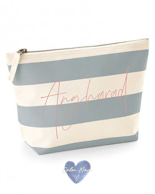 Bag Colur Streips / Stripe MakeUp Bag