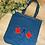 Thumbnail: Bag Denim llythyren shenil/Chenille letter Bag Denim