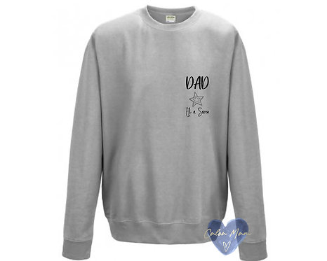Siwmper dad a enw/dad and name sweater