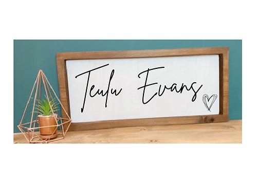 Arwydd Pren / Wood Sign