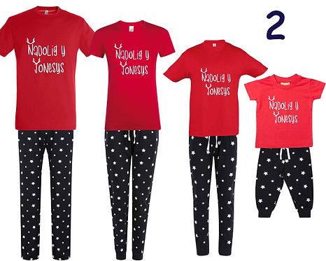 Pyjamas Nadolig/Christmas Pyjamas (Design2)