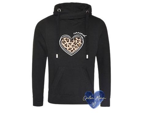 Slowch Calon Llewpard/Leopard print heart slouch