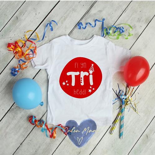 Crys T Penblwydd/Birthday t-shirt