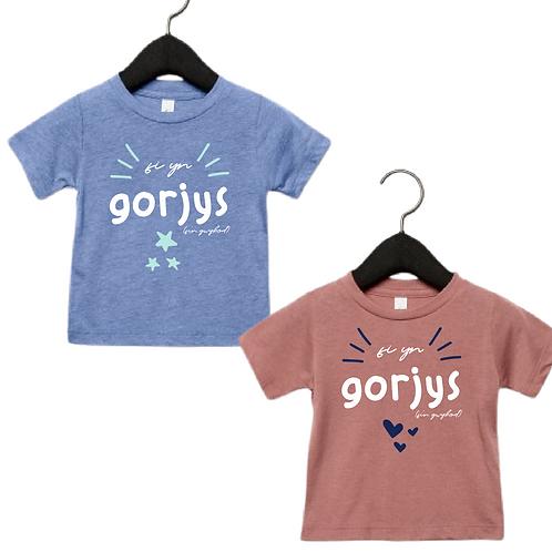 """Crys T """"fi yn gorjys"""" tshirt (babi)"""