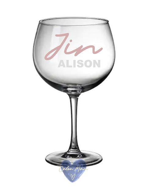 Gwydr Jin/Gin glass