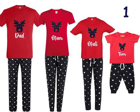 Pyjamas Nadolig/Christmas Pyjamas (Design1)