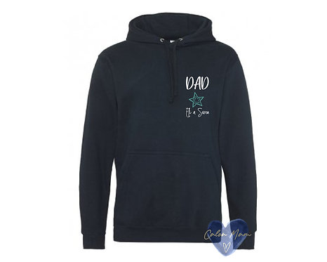 hwdi Dad a enw/Dad  and name hoody