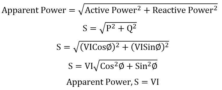 apparent power formula