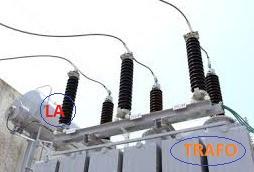 lightning arrester installation before transformer