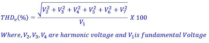 THD(%) of voltage formula