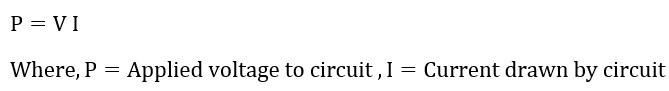 Formula of DC power