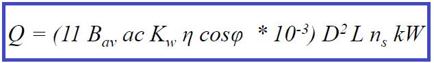 Motor KW Equation