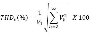 generalized THD% voltage formula