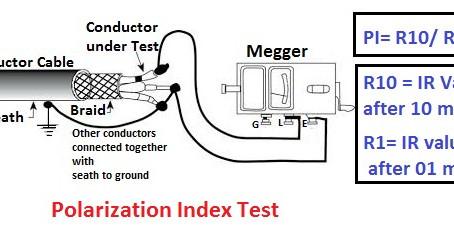 Polarization Index Test or PI test and DA Test