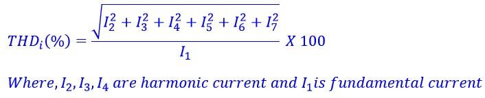 THD of current(%) Formula