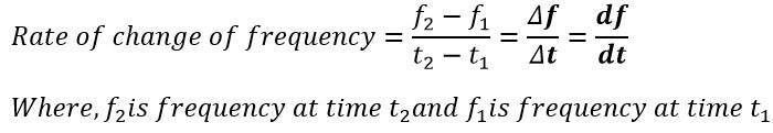 formula of rate of change of frequency