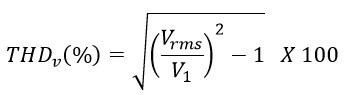 THD calculation with rms voltage