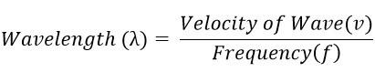 relation between wavelength & frequency