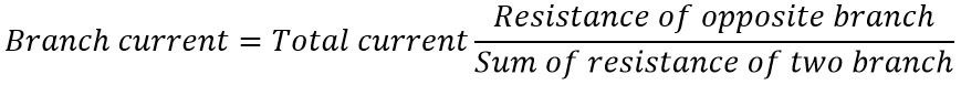 general formula of current divider