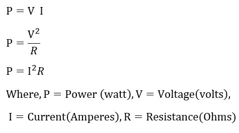 electric power equations