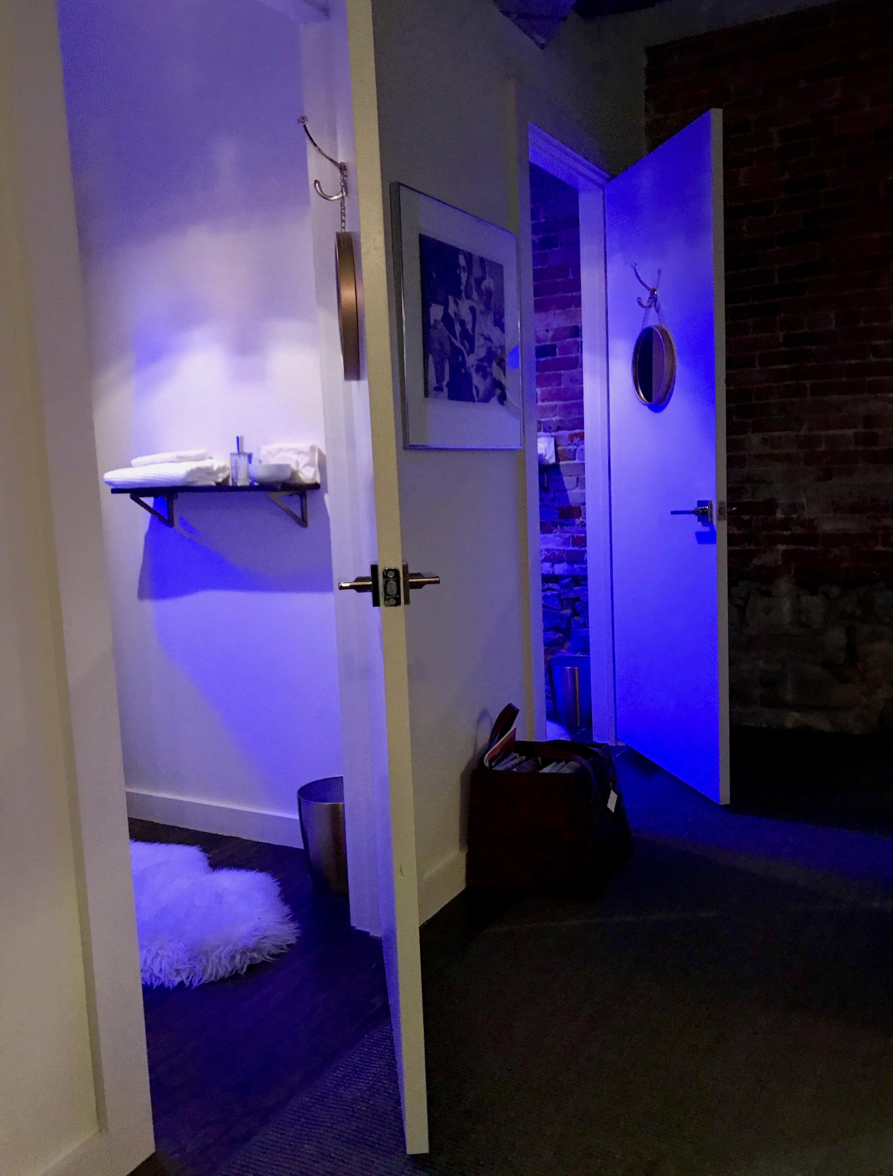 Sauna glow.