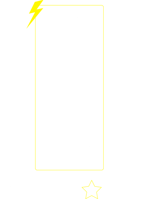 BS WHITE YELLOW LOGO WITH TEXT UNDERNEAT