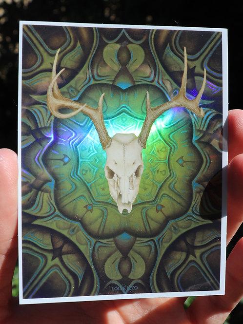 'Deer Medicine' Sticker (Holographic)