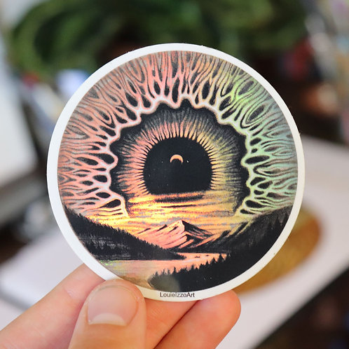 """Rocky Mountain Skyris' Sticker (Holographic)"