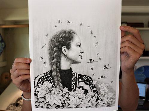 'Autumns Embrace' Paper Print