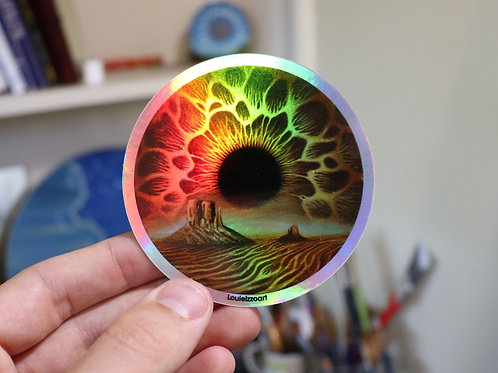 'Desert Skyris' Sticker (Holographic)