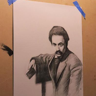Charcoal Portrait of Kahlil Gibran