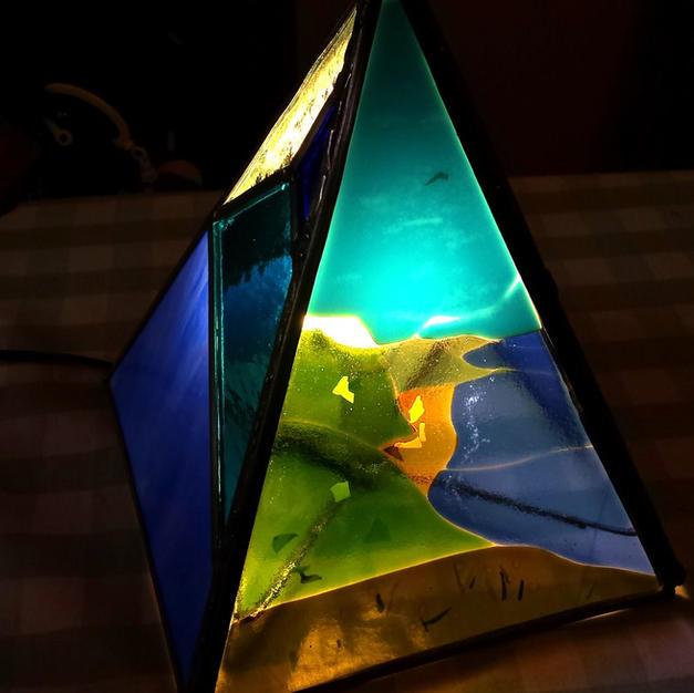 Fused Coastline Lamp