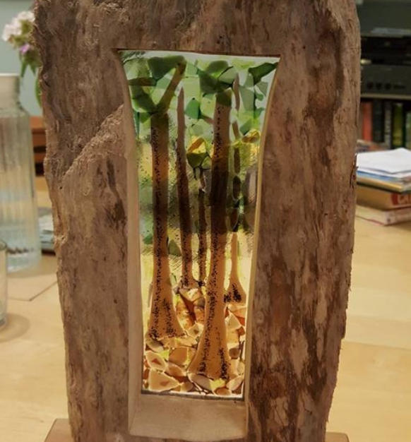 Woodland scene in driftwood