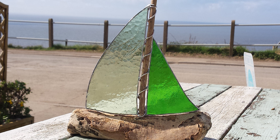 Driftwood Boats with Stained Glass (1)