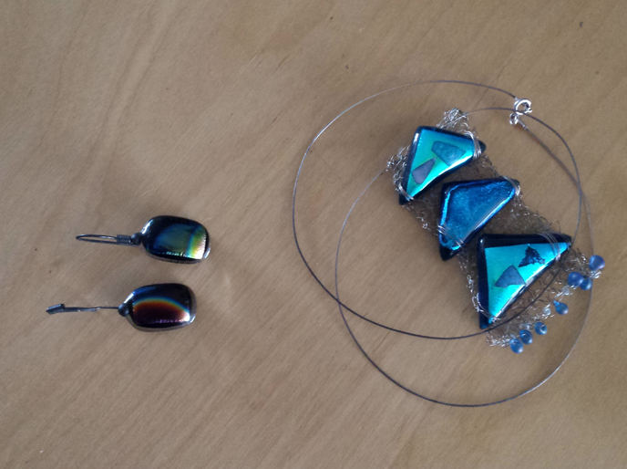 Pyramid Stained glass jewellery