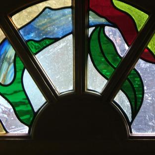 Flower and Leaf Window