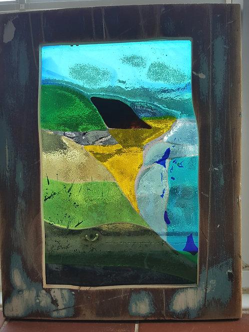 Fused Glass Coastal Scene