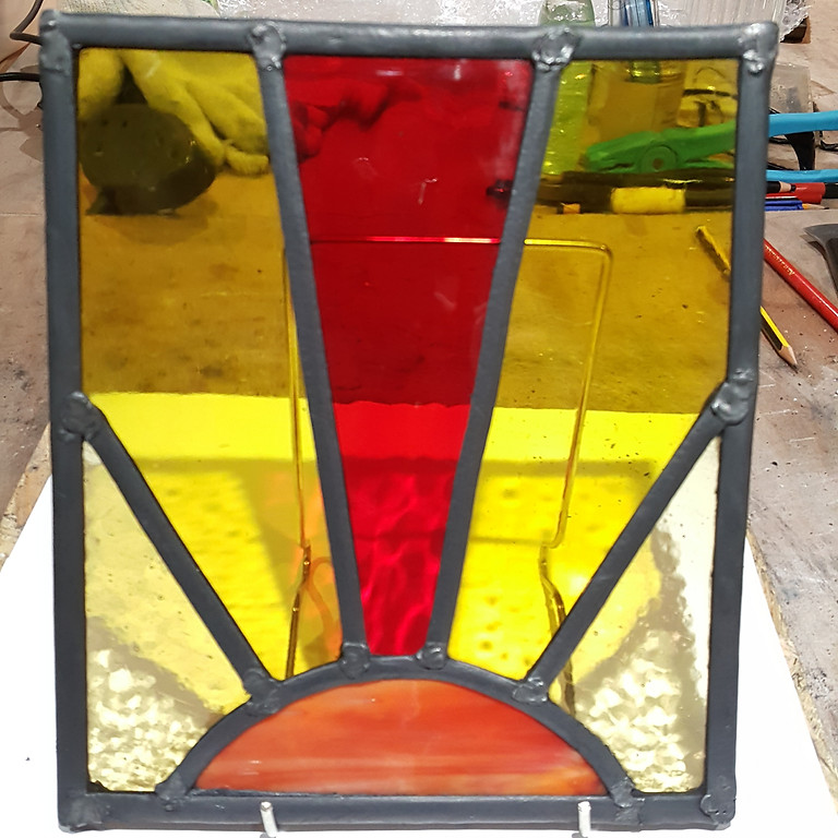 Traditional leaded stained glass panel course