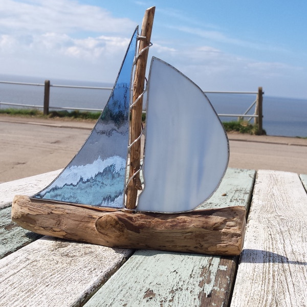 Stained Glass & Driftwood Yacht (1)